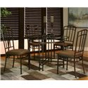 Cramco, Inc Ivana Round Table w/ Beveled Glass Top - Shown with Side Chairs
