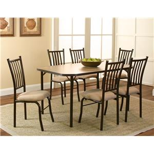 Cramco, Inc Jacey 7 Piece Table and Chairs Set