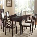 Cramco, Inc Jasmyn Rectangular Wood Table - Shown with Side Chairs