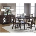 Cramco, Inc Jasmyn 5 Piece Counter Height Table Set - Shown in Room Setting with Sideboard
