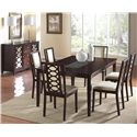 Cramco, Inc Jasmyn Dining Server  w/ Mirror Door Fronts - Shown in Room Setting with Table and Side Chairs
