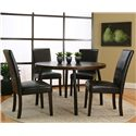 Cramco, Inc Contemporary Design - Kemper Upholstered Parson's Side Dining Chair - Round Dining Table Not Available