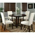 Cramco, Inc Contemporary Design - Kemper Upholstered Parson's Side Dining Chair - Shown with Round Dining Table
