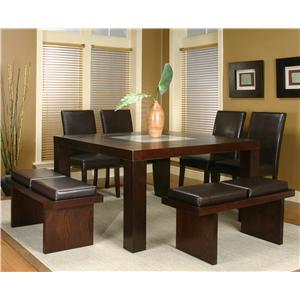 Cramco, Inc Contemporary Design - Kemper Seven Piece Dining Set