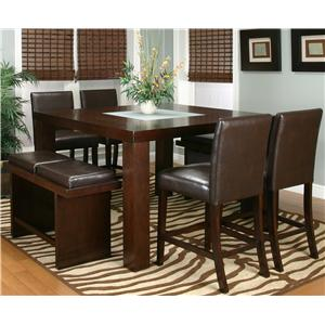 Cramco, Inc Contemporary Design - Kemper Seven Piece Pub Set