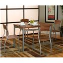 Cramco, Inc Lark Platinum/Acacia Veneer Table - Shown with Chairs