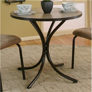 Cramco Inc Linen Round Beige Laminate Top Table