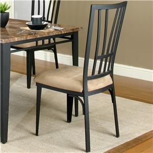 Flat Black/Stone Microsuede Side Chair