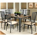 Cramco, Inc Cramco Trading Company - Lingo Table and Chair 7 Piece Set - Item Number: W2337-57+6x01