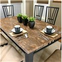 Cramco, Inc Cramco Trading Company - Lingo Rectangular Table w/ Faux Marble Top - Rectangular Faux Brown Marble Top Table