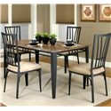 Cramco, Inc Cramco Trading Company - Lingo Rectangular Table w/ Faux Marble Top - Table Shown with Arm Chairs