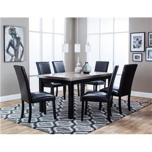 Cramco, Inc Matteo Dining Table & 6 Side Chairs