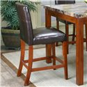 "Cramco, Inc Cramco Trading Company - Mayfair  24"" Cordovan Parson's Stool - Item Number: 22450-24"
