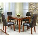 Cramco, Inc Cramco Trading Company - Mayfair  Contemporary Dinner Table w/ Faux Marble Table - Table Shown with Side Chairs