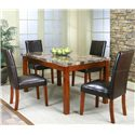 Cramco, Inc Cramco Trading Company - Mayfair  Rectangular Casual Table w/ Faux Marble Top - Table Shown with Parson\'s Chairs
