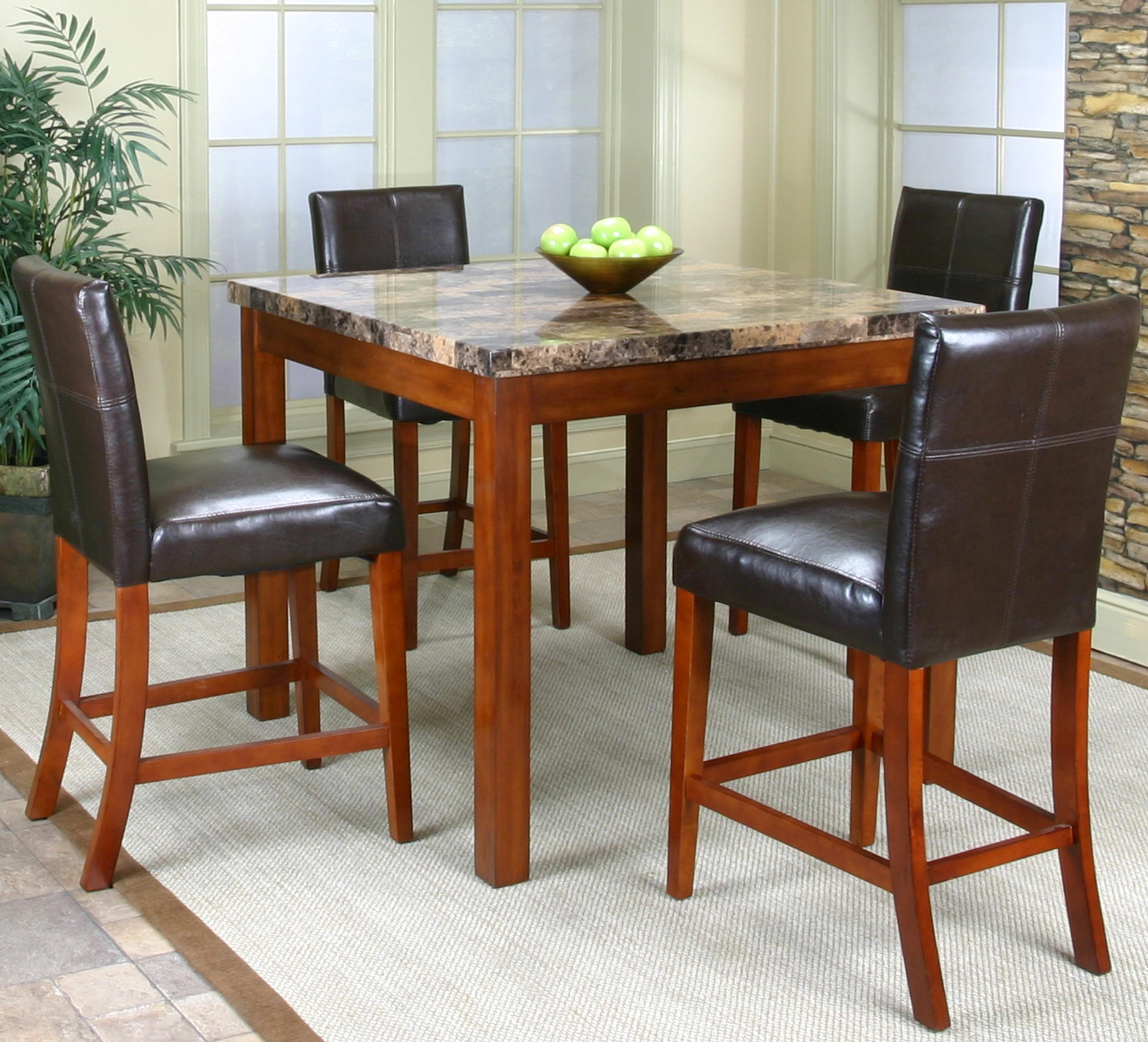 Cramco, Inc Cramco Trading Company   Mayfair Counter Height Table W/  Parsonu0027s Stools