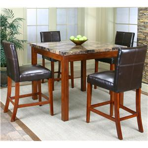 Cramco, Inc Cramco Trading Company - Mayfair  Counter Height Table w/ Parson's Stools