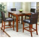 Cramco, Inc Cramco Trading Company - Mayfair  Counter Height Table w/ Parson's Stools - Item Number: 22450-58+4x24