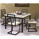 Cramco Inc Maze 5 Piece Square Table And Side Chair Set Darvin Furniture Dining 5 Piece Set