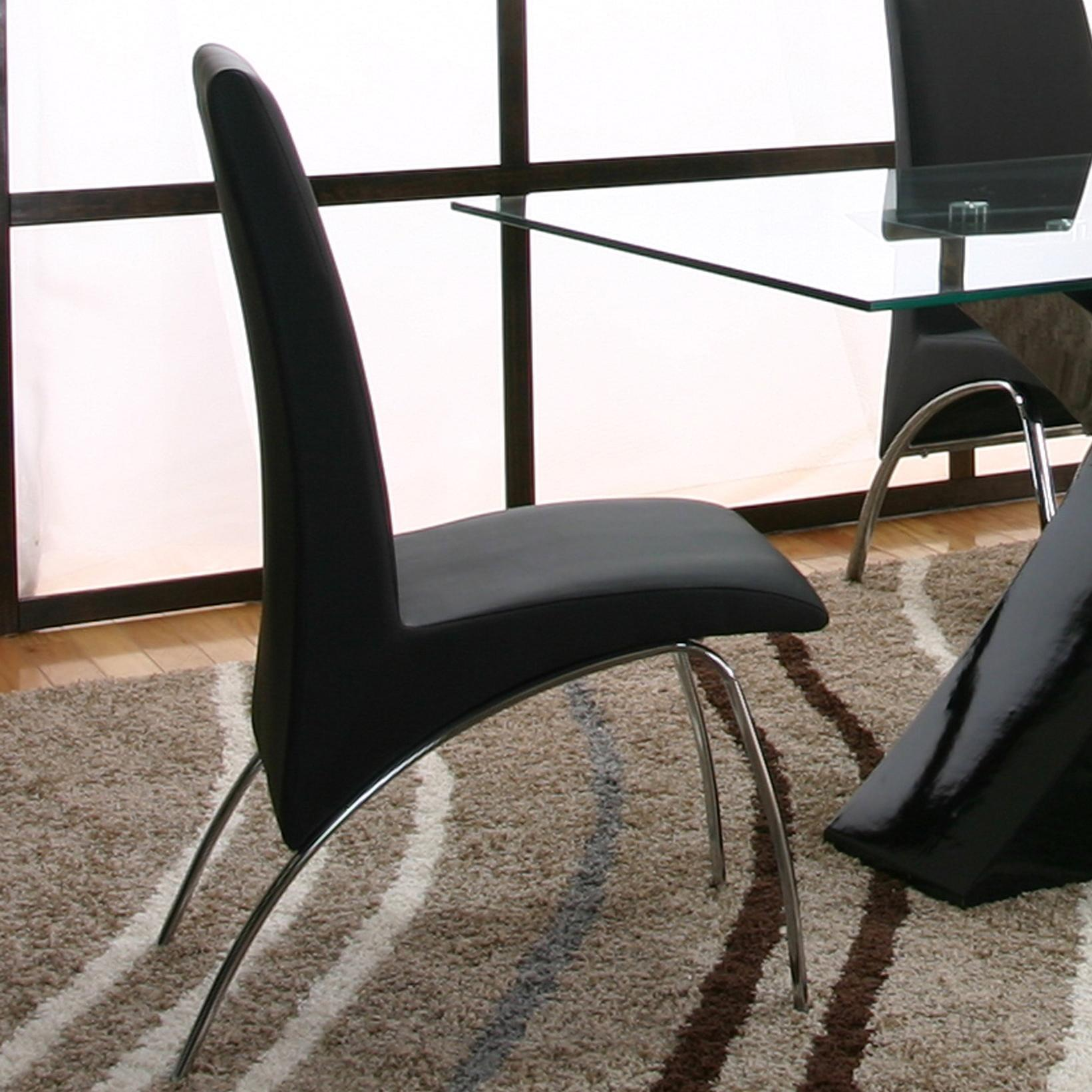 Cramco, Inc Mensa Black Side Chair - Item Number: F5457-01+12