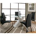 Cramco, Inc Mensa Black Side Chair - Shown with Table with White Base