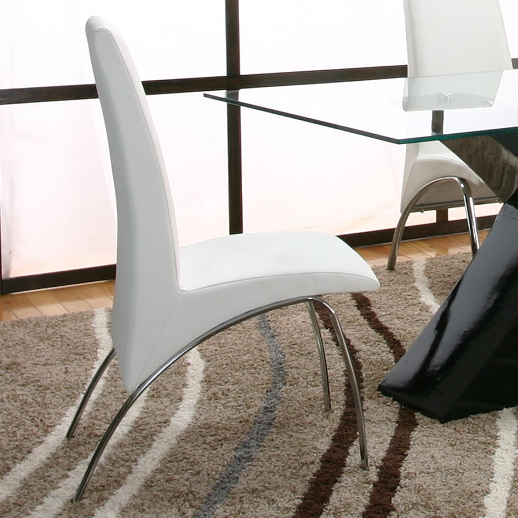 Cramco, Inc Mensa White Side Chair - Item Number: F5457-03+12