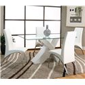 Cramco, Inc Mensa White Side Chair - Shown with Table with White Base