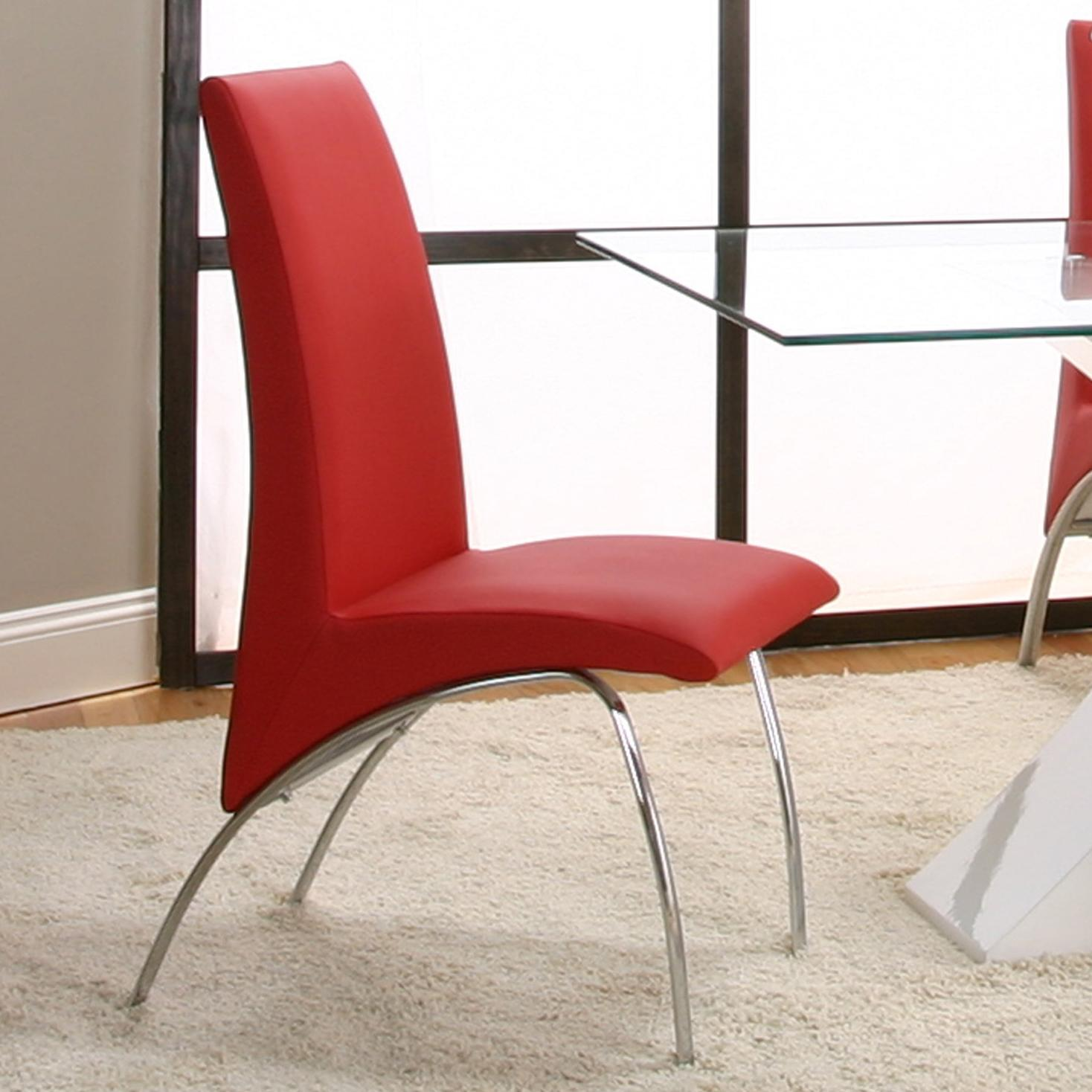 Cramco, Inc Mensa Red Side Chair - Item Number: F5457-09+12