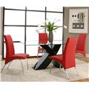 Cramco, Inc Mensa Red Side Chair - Shown with Table with Black Base