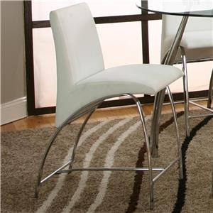 "Cramco, Inc Mensa White Polyurethane/Chrome 24"" Counter Stool"
