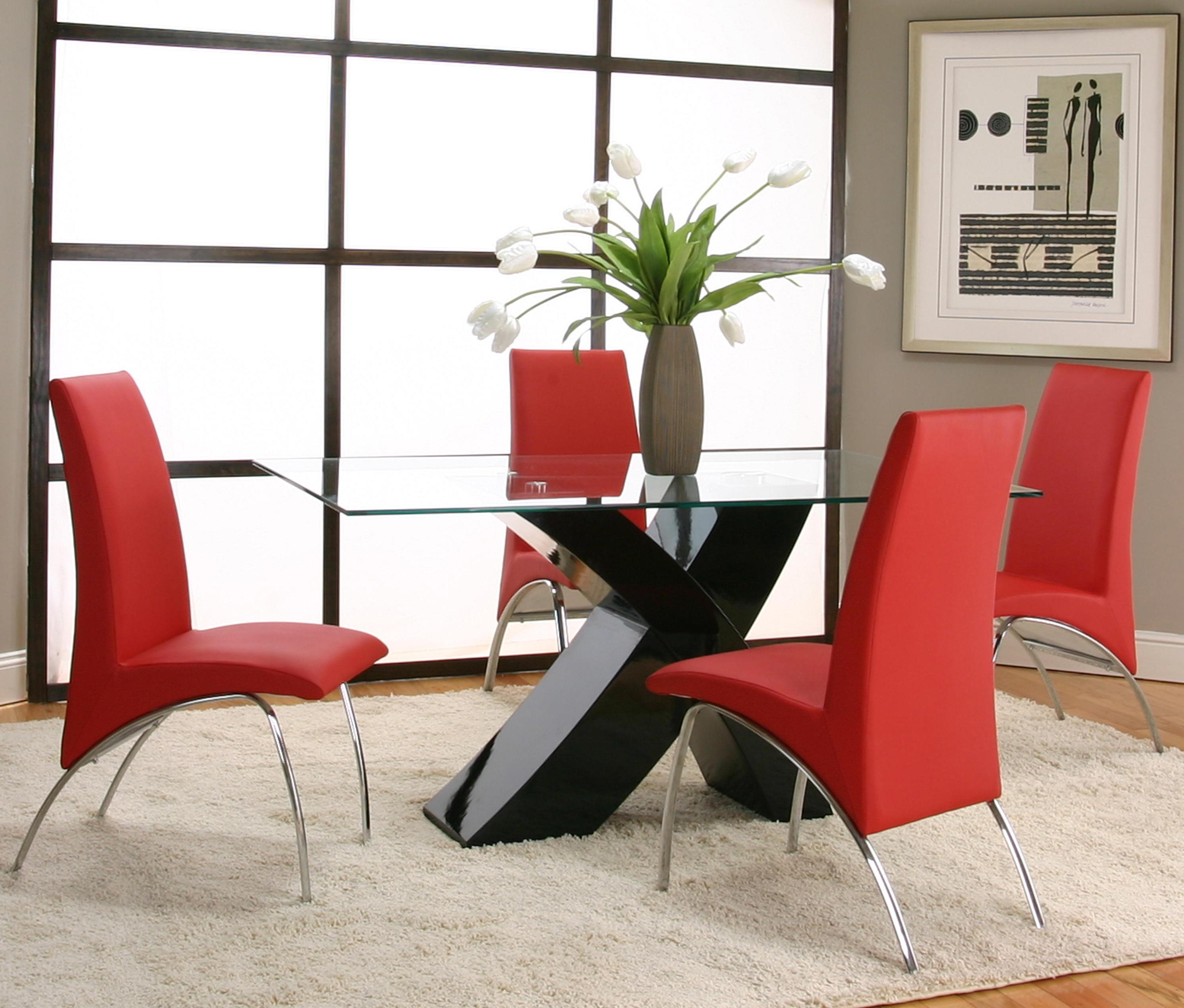 Cramco, Inc Mensa 5 Piece Table & Chair Set - Item Number: F5457-42+48+4x12+4x09