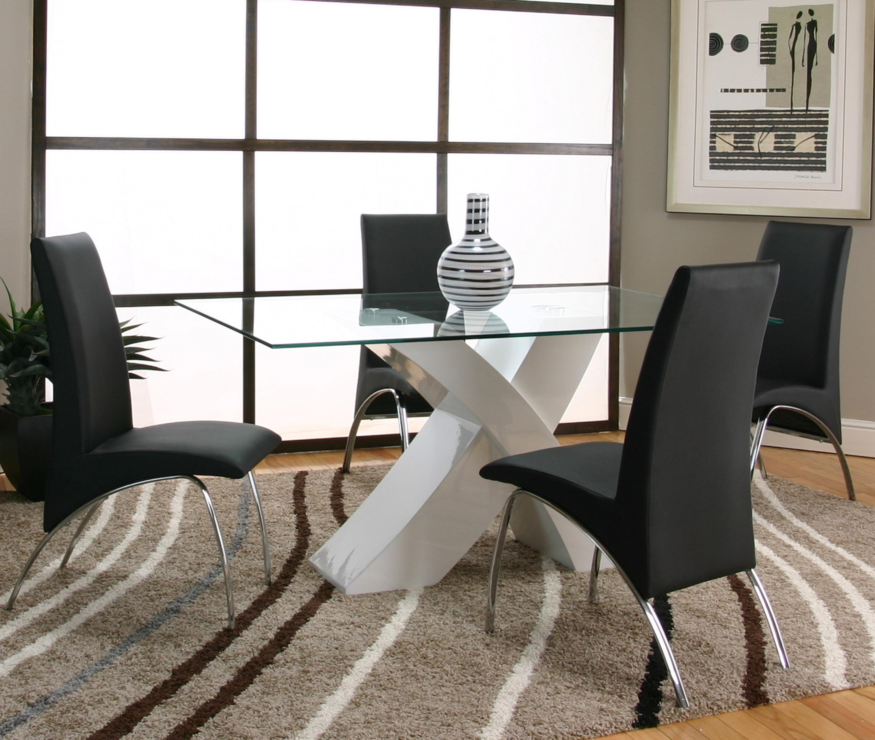 Cramco, Inc Mensa 5 Piece Table & Chair Set - Item Number: F5457-42+50+4x01+4x12