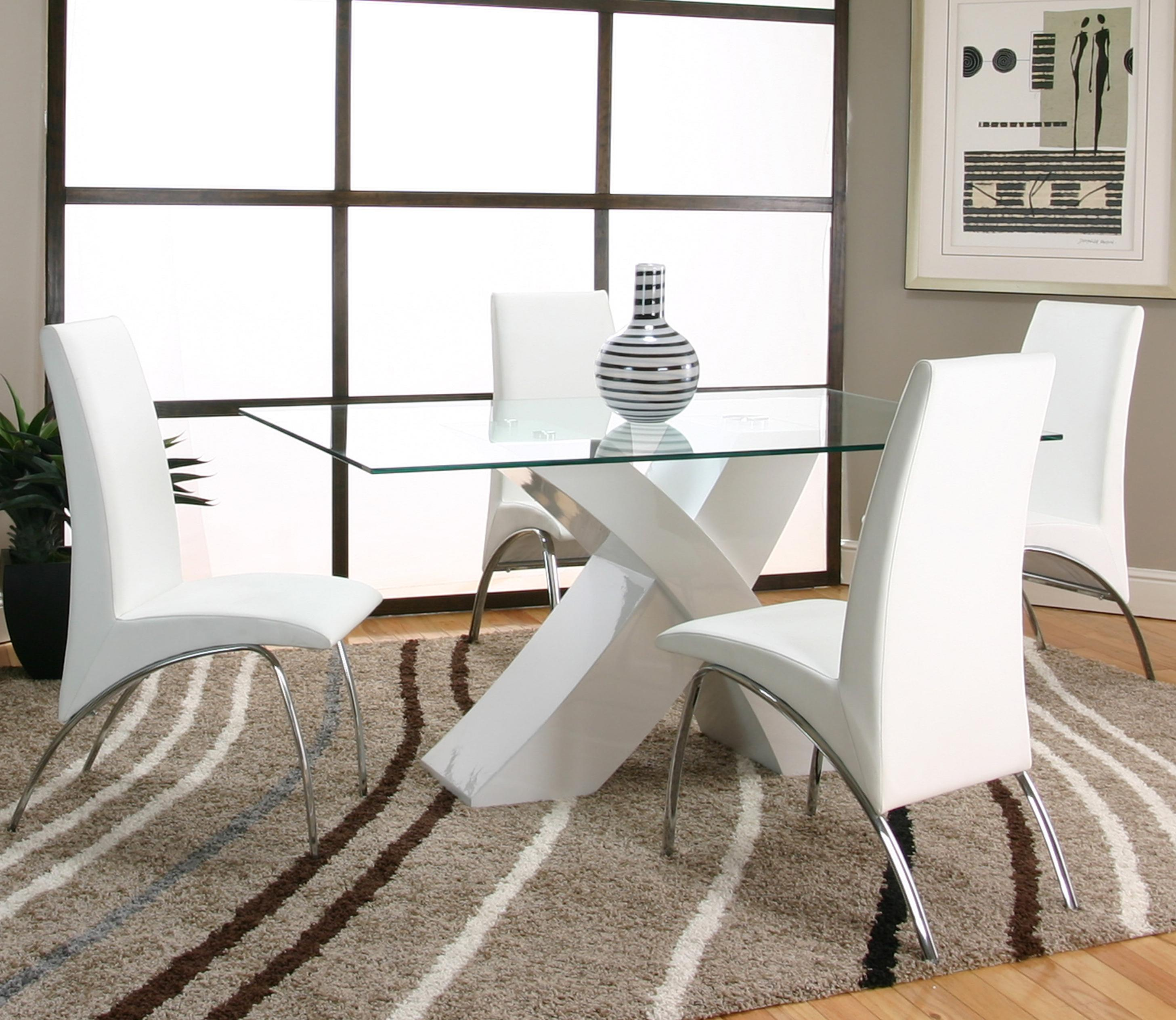 Cramco, Inc Mensa 5 Piece Table & Chair Set - Item Number: F5457-42+50+4x12+4x03