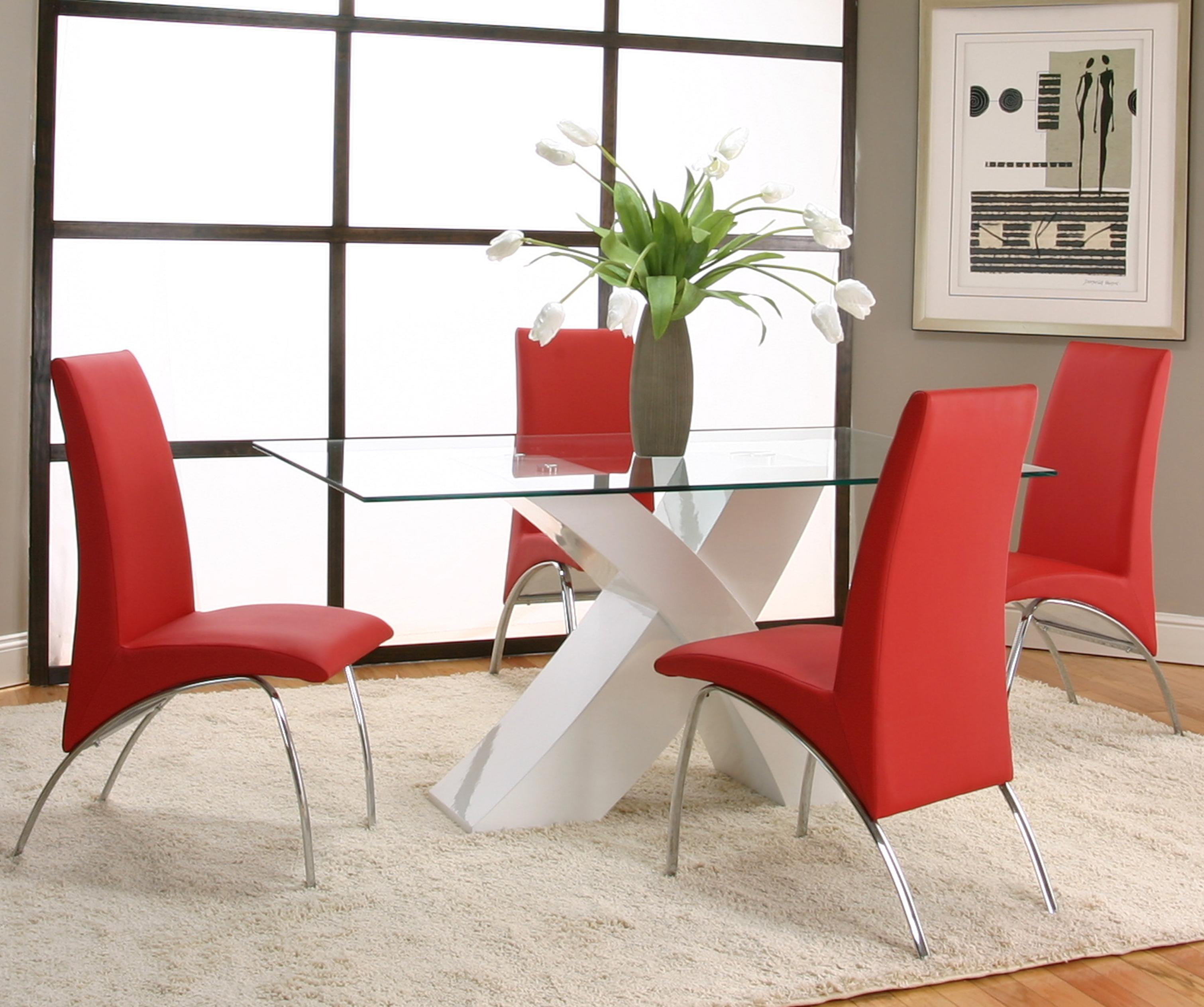 Cramco, Inc Mensa 5 Piece Table & Chair Set - Item Number: F5457-42+50+4x12+4x09