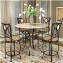 Cramco, Inc Cramco Trading Company - Nadia Five Piece Pub Table Set - Item Number: Y2476-55+52+4x24