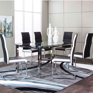 Glass Top Table and Upholstered Chair Set
