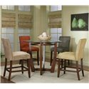 Cramco, Inc Contemporary Design - Parkwood Counter Height Dining Table with Cherry Wood Base - Shown with Counter Height Dining Chairs in Different Fabric Options