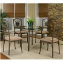Cramco, Inc Cramco Trading Company - Piazza  Table and Chairs Set - Item Number: W2550-47+41+4x01