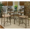 Cramco, Inc Cramco Trading Company - Piazza  Counter Height Table and Stool Set - Item Number: W2550-49+41+4x24
