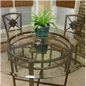 Cramco, Inc Cramco Trading Company - Piazza  Metal Pub Table w/ Glass Top - Glass Table Top with Stone Slate
