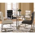 Cramco, Inc Polaris Side Chair w/ Polyurethane Upholstery - Shown with Table