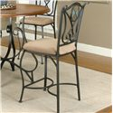 "Cramco, Inc Cramco Trading Company - Ravine Espresso/Stone Microsuede 24"" Counter Stool  - Item Number: W2597-24"
