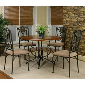 Cramco, Inc Cramco Trading Company - Ravine Five Piece Round Table and Chair Set