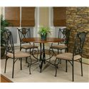 Cramco, Inc Cramco Trading Company - Ravine Round Table w/ Espresso Colored Base - Table Shown with Side Chairs