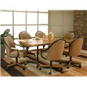 Cramco, Inc Shaw Dining Table & 6 Arm Chairs - Item Number: D8685-37+76+6x07+6x10