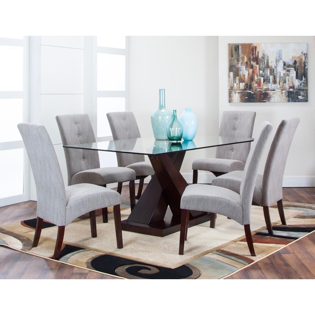 Cramco Inc Sienna 7 Piece Dining Set Value City Furniture Casual Dining Room Group