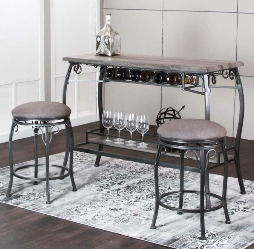 3 Piece Bar Stool Set: Cramco, Inc Sprite 3 Piece Counter Height Bar Table And