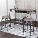 Cramco, Inc Sprite 3 Piece Bar Dining Set - Item Number: Y2684-75