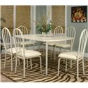 Cramco, Inc Tawny Bow-End Leg Table - Shown with Side Chairs