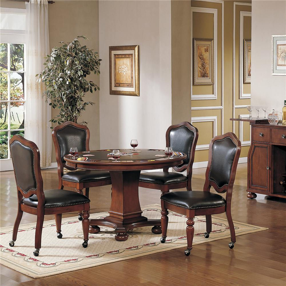 Cramco Inc Timber Lane Faran Round Game Table And